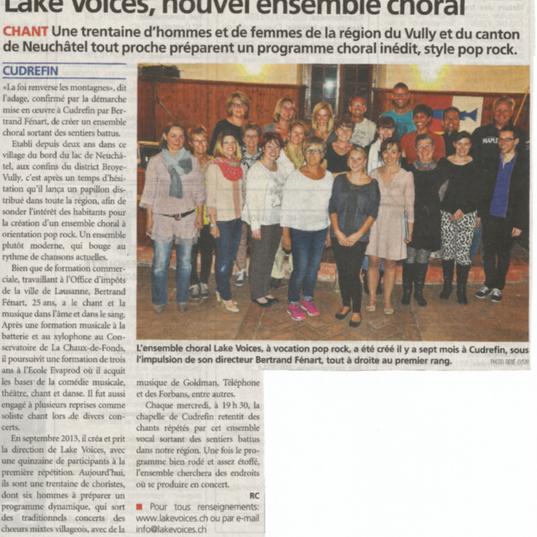 Journal de la Broye 24.04.2014