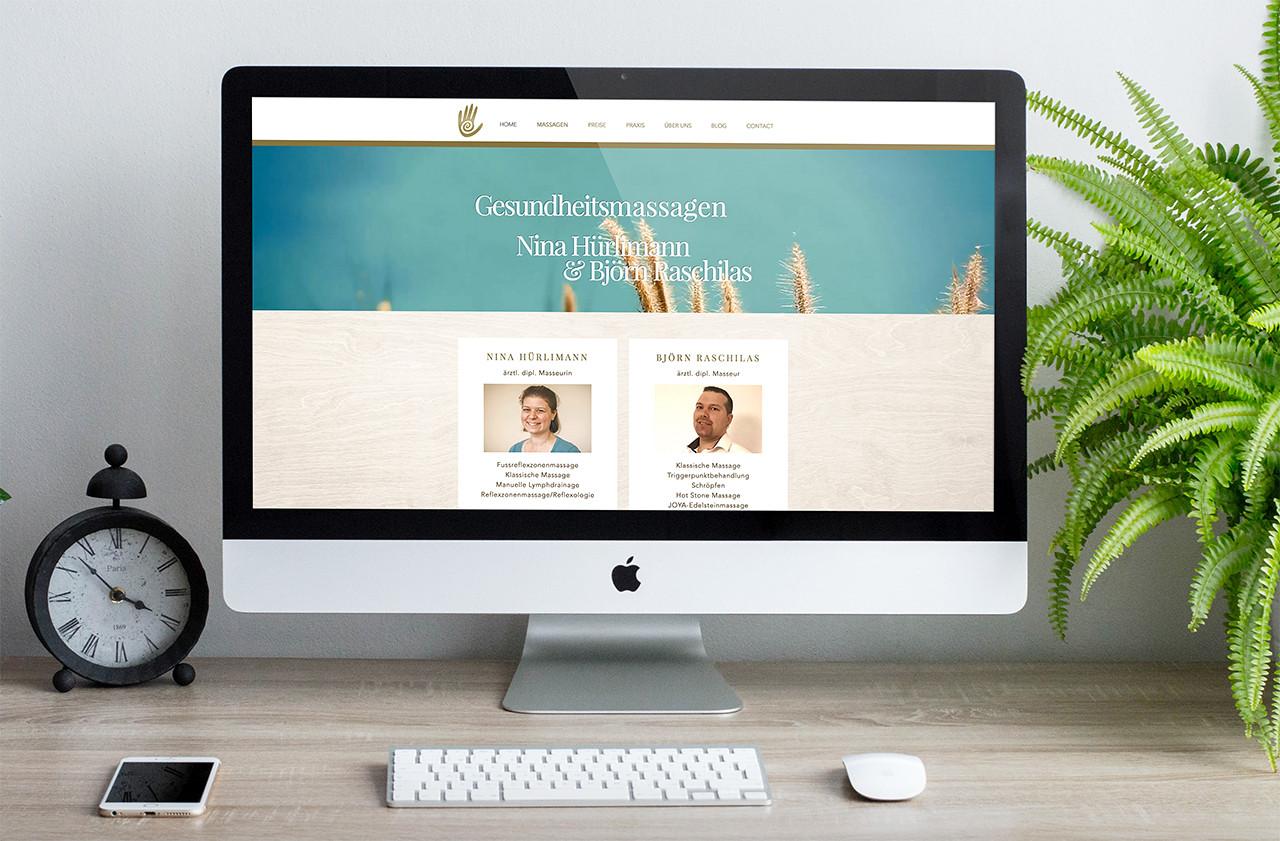 Nina Hürlimann & Björn Raschilas - Gesundheitsmassagen-Bern