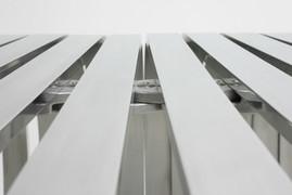 Ribs Bench in aluminium