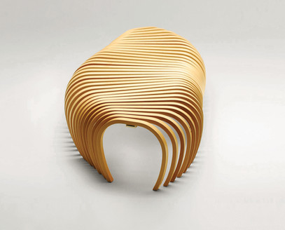 Ribs Bench in timber