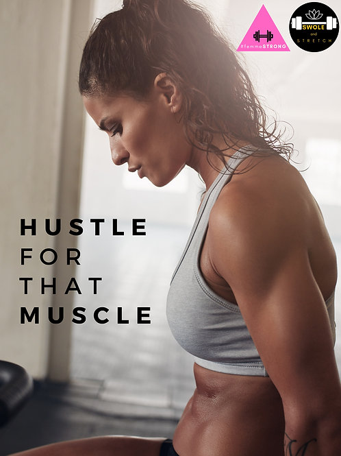 """#femmeSTRONG """"Hustle for that Muscle"""" Gym Poster"""