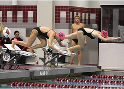 Swimming for Texas A&M