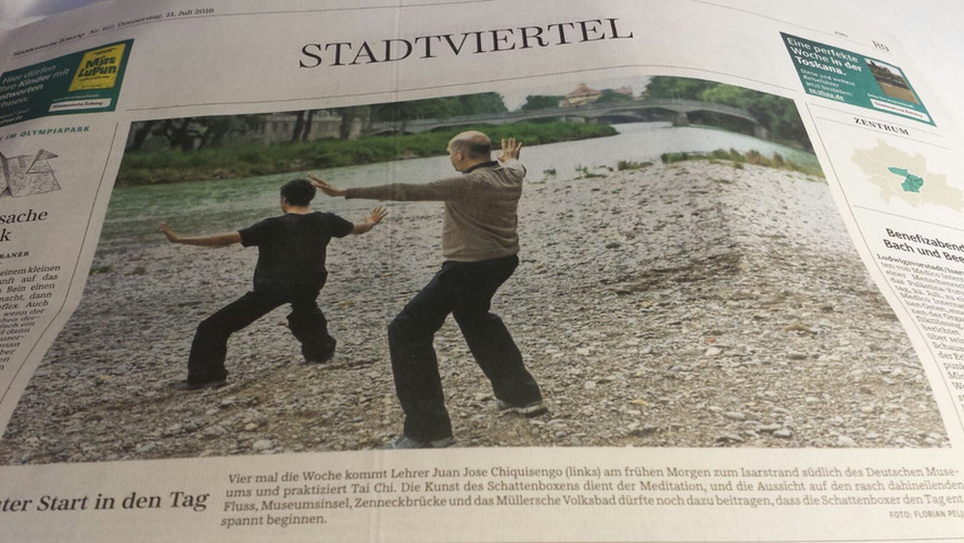 Article Süddeutsche Zeitung Munich - About my TaiJi and QiGong lessons