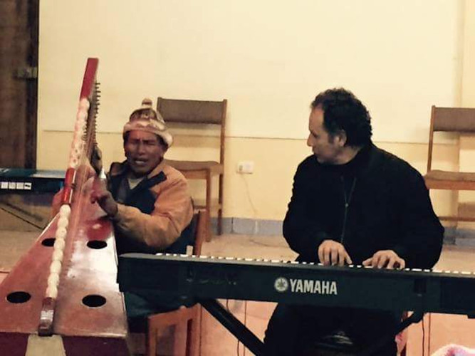 Jam session with Andean Harp - Travesia Musical