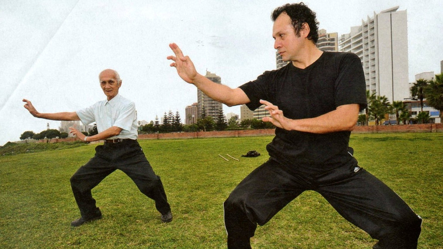 With SiFu Cam Lee, my 95 years old Teaceh of Qi Gong, Taiji