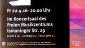 Poster Concert with my Works - Munich