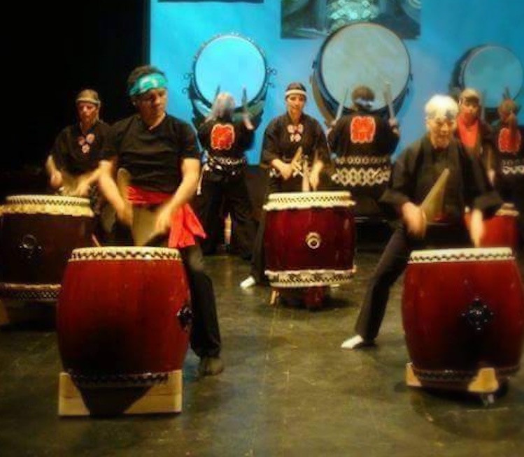 Taiko Japanese Drums in Theater Augsburg