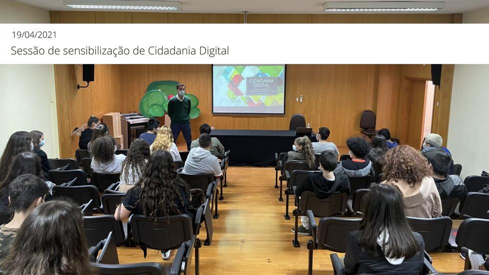 Sessão de sensibilização sobre Cidadania Digital