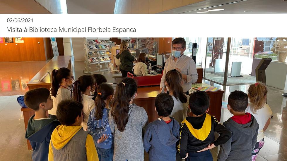 Visita à Biblioteca Municipal Florbela Espanca