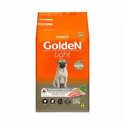 Golden Cães Adultos Raças Pequenas - Light - Frango e Arroz - 1 kg
