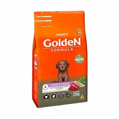 Golden Cães Filhotes Raças Pequenas - Carne e Arroz - 3 Kg