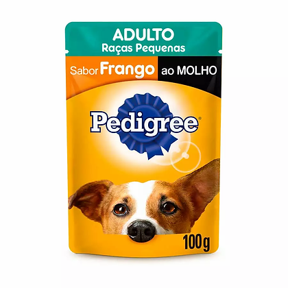 Pedigree Sachê Adultos Raças Pequenas - Sabor Frango ao Molho - 100 g