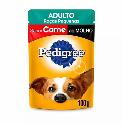 Pedigree Sachê Adultos Raças Pequenas - Sabor Carne ao Molho - 100 g