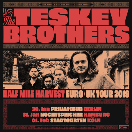 The Teskey Brothers announce first ever Europe tour in February 2019