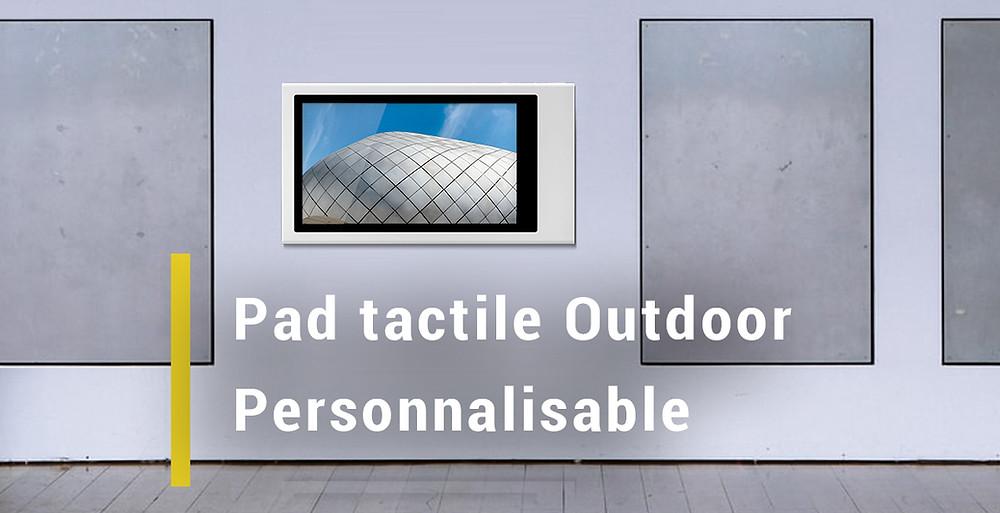 Pad tactile capacitif projeté outdoor à personnaliser