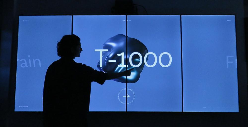 Mur d'écran tactile interactif - Interactive capacitive touch screen video wall