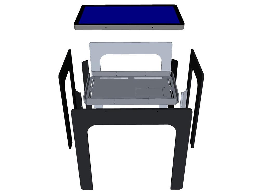 Une table tactile à monter et démonter aussi facilement qu'un meuble IKEA !