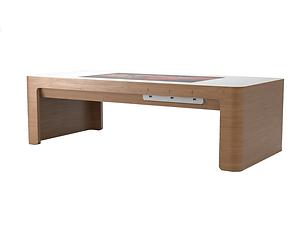 Table basse tactile en bois massif