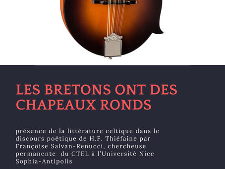 Prochaine conférence, Université Rennes 2, jeudi 11 octobre 2018 à 14h