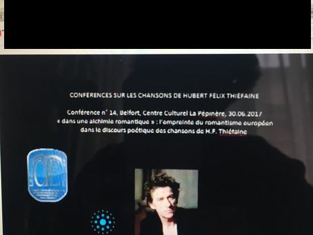 Nouvelle conférence en ligne https://www.youtube.com/watch?v=R0IGjb2LVZY