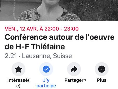 """Conférence à Lausanne en marge du spectacle de Philippe Soltermann, """"J'arriverai par l'"""