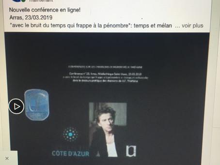 Nouvelle conférence en ligne !
