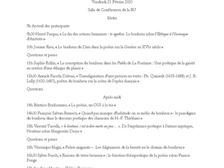 Prochaine conférence : Nice, Campus Carlone, 21/02/20 à 14h30