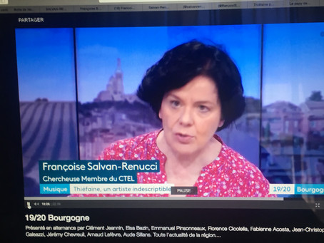 Revoir l'interview au 19-20 de France 3 Bourgogne du 23 avril 2019