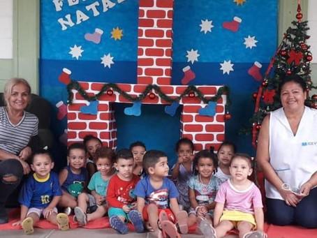 Confraternização de Natal emociona na creche