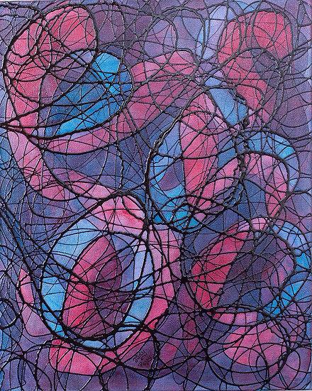 "Maverick - 16"" x 20"" x 1 1/2"" Original Acrylic Painting on Canvas"