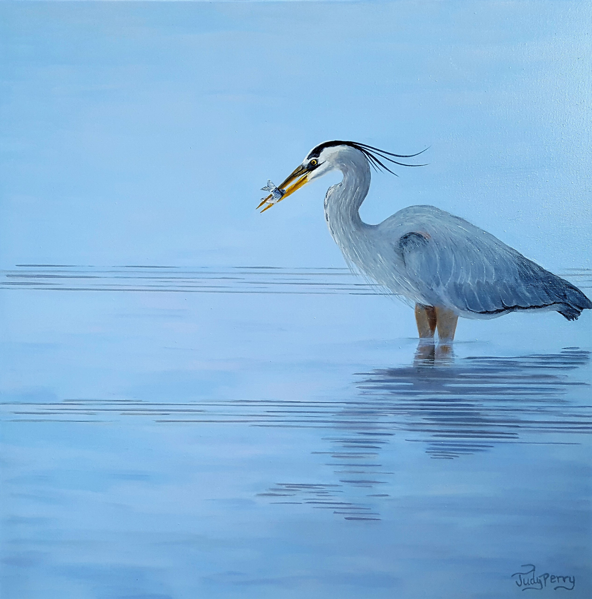 2018 Appetizer - Blue Heron, Judy Perry.