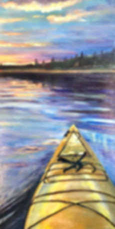 Claire - Paddler's Perspective - acrylic
