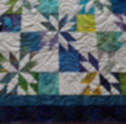 Ruth's Quilt - Starburst 72 x 90 Close u