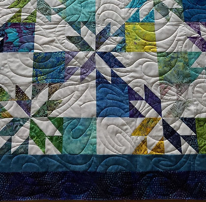 Ruth's Quilt - Starburst 72 x 90 Close u