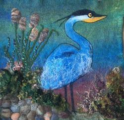 Janice B - Felting  of Island Blue Heron