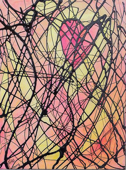 "Heart Warming - 12"" x 16"" x 1 1/2"" Original Acrylic Painting on Canvas"