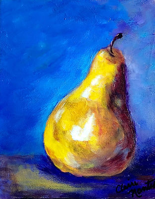 Claire - Ripe Pear - acrylic on canvas 8