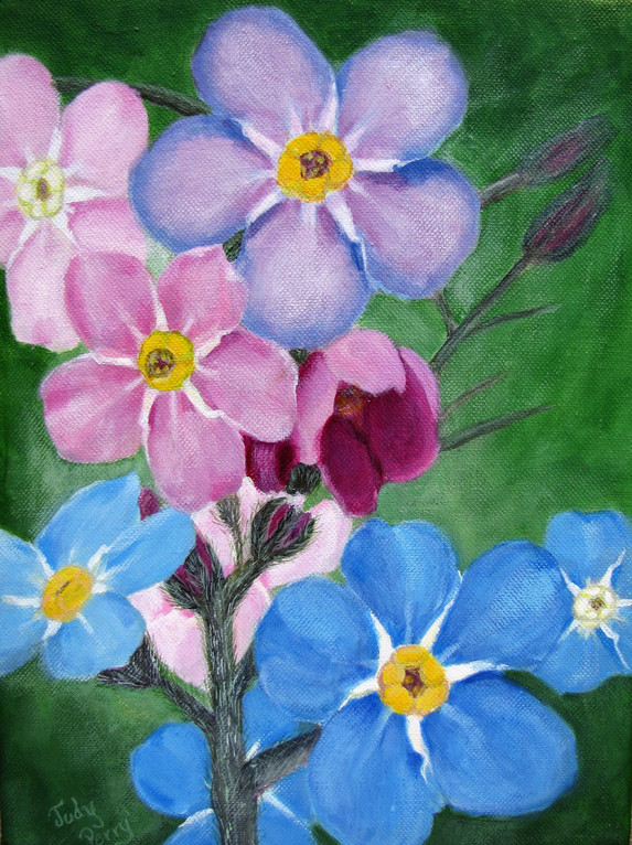 Forget Me Nots 9 x 11 Gift