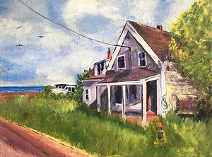 Margaret W, Foreclosed, oil on canvas 20
