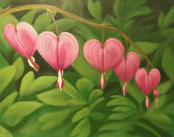 Hearts and Flowers - Sold