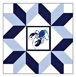 Ellen - 1 Logo - Blue Lobster Barn Quilt