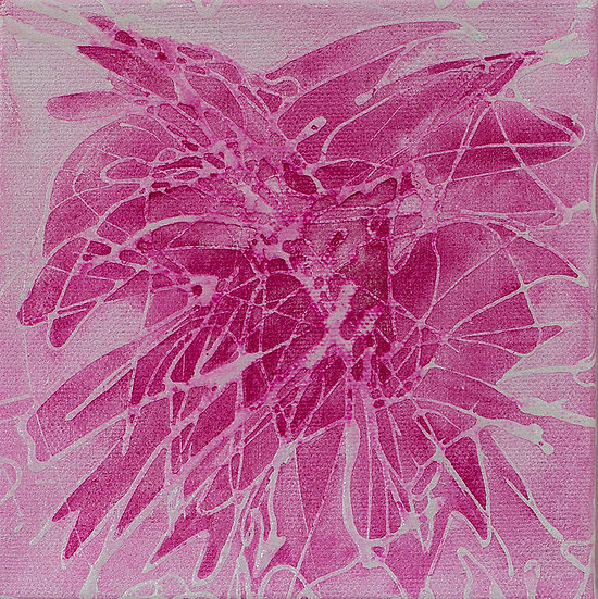 "Dahlia 6"" x 6"" x 1 1/2"" Original Acrylic Painting on Canvas"
