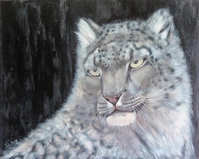 Snow Leopard 16x20 Sold - Ontario00.j