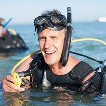 portrait of scuba diver instructor