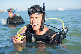 Divers Preparing for Dive