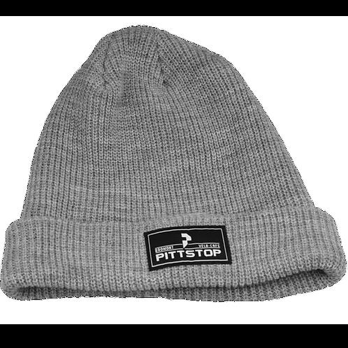 Tuque avec logo Pittstop Bromont - Grise