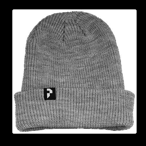 """Tuque avec logo """"P"""" - Grise"""