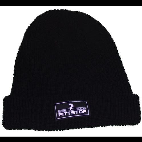 Tuque avec logo Pittstop Bromont - Noire