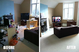 Studio Den Living Room House Cleaning Company Connecticut