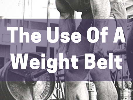 The Use Of A Weight Belt (Part 1)